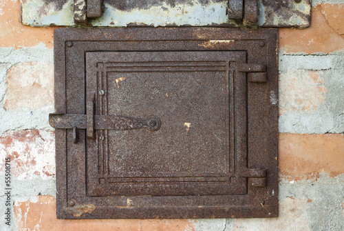 door of old stove