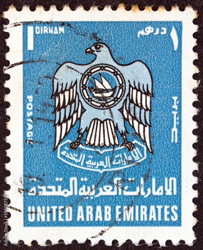 Eagle (U.A.E. emblem) (United Arab Emirates 1977)