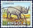 Постер, плакат: Black Rhinoceros Angola 1953
