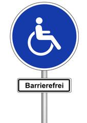 Schild Barrierefrei