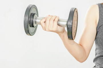 Dumbbell in hand
