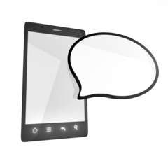 Smartphone with empty cloud