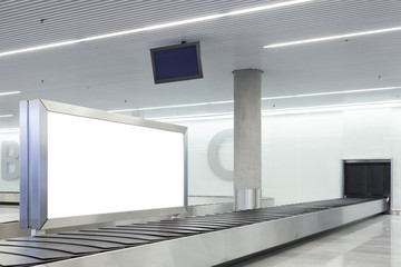 Blank billboard or poster on airport