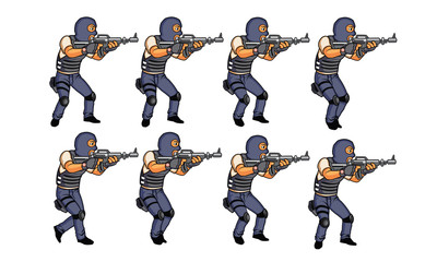 SWAT team Walking Animation