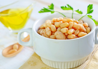white beans in bowl
