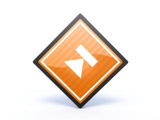 eject rectangular icon on white background