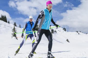 gemeinsam beim Wintersport