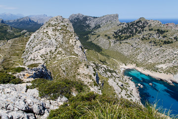 El Fumat (334m) über der Cala Figuera, Mallorca