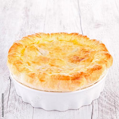 chicken pot pie, meat pie