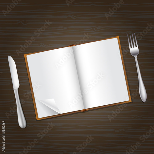 reading and food concept