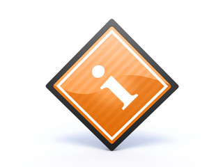 information rectangular icon on white background
