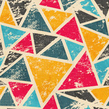grunge colored triangle seamless pattern - 55513519