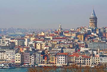 View of Istanbul with Galata Tower, Turkey