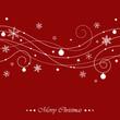 christmas swirls on red background