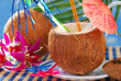 summer drink in coconut shell
