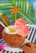 summer drink in coconut shell