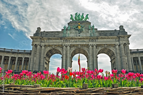 The Triumphal Arch in Cinquantenaire Parc