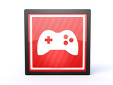 game rectangular icon on white background