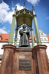 Luther-Denkmal vor dem Rathaus Lutherstadt Wittenberg