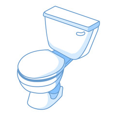 toilet isolated illustration