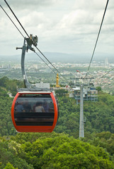 Cable Car at Hatyai Park , Hat Yai , Thailand