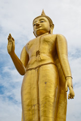 Temple at Hat Yai Thailand (Standing Buddha)