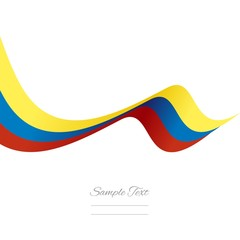 Abstract Venezuelan ribbon vector