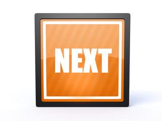 next rectangular icon on white background