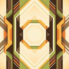 Futuristic abstraction with geometric shapes in color.