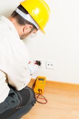 Performing a repair electrician