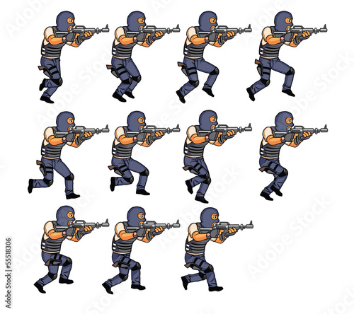 SWAT Running Animation