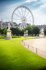 la ruota panoramica dai giardini des Tuileries