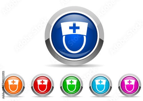 nurse icon set