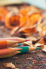 Colour Pencils and Shavings