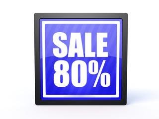 sale rectangular icon on white background