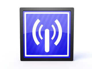 signal rectangular icon on white background