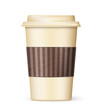 retro cup of coffee to go