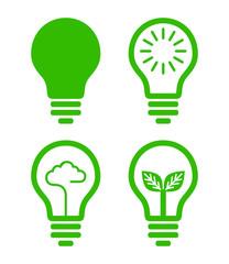 lightbulb  icon - green concept