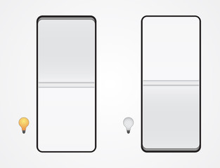 switcher - switch button icon with light bulb