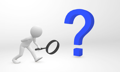 3d human detect and get information from a question mark
