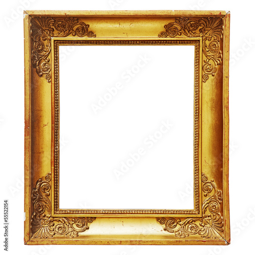 old gold-plated picture frame