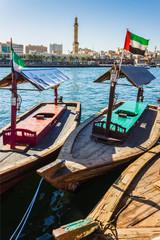 Boats on the Bay Creek in Dubai, UAE