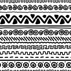 Handmade pattern with ethnic geometric ornament for your design