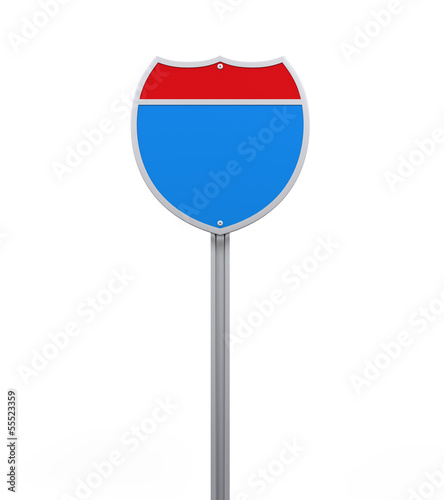 Blank Interstate Road Sign