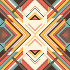 Angular abstraction with geometric objects.