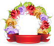 Flowers and ribbon
