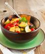 Sauteed zucchini and sweet pepper