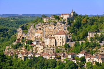 Rocamadour, a beautiful french village on a cliff
