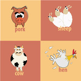 four farm animals