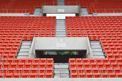 Foto op Canvas Stadion Seats on main stand of public national stadium.